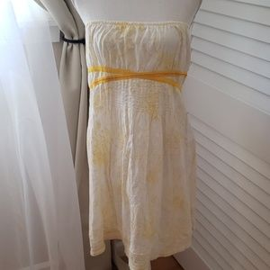 Free people strapless dress with built in bra!
